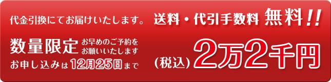 税込2万2千円